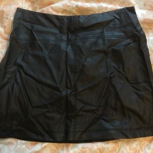 Abercrombie and Fitch fake leather skirt size 8